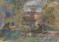 Na łące- Skoki, 1954 r.