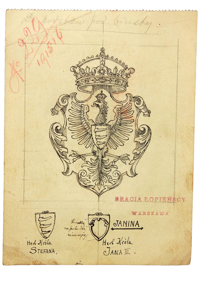 Szkic projektowy, Warszawa, Br. Łopieńscy, ok. 1900