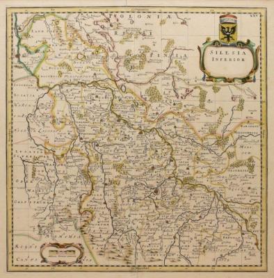 Jonas Scultetus (1603-1664) J. i C. Blaeu, Silesia Inferior.