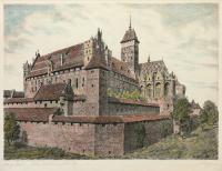 Widok zamku w Malborku od strony południowo-wschodniej