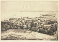 Panorama Sopotu od strony Orłowa, przed 1925 r.
