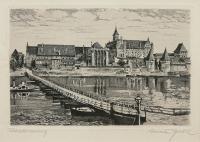 Widok na Zamek w Malborku