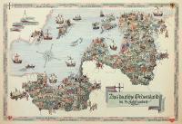 Mapa państwa zakonu krzyżackiego w XIV wieku