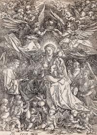 Maria Królowa Aniołów (Maria als Koenigen der Engel), XVIII w.