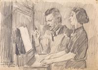 Duet przy pianinie, 1941 r.