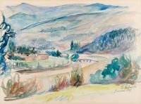Pejzaż z Piwnicznej, 1939 r.