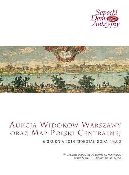Aukcja Widoków Warszawy oraz Map Polski Centralnej