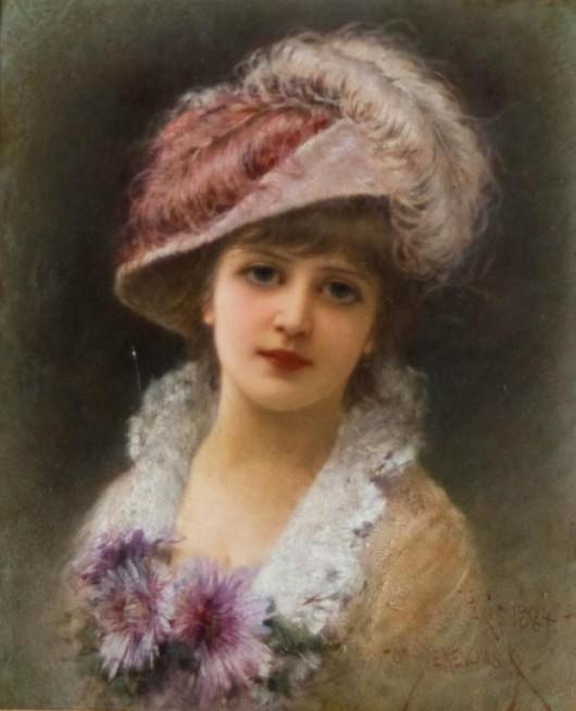 Elegantka w kapeluszu, 1884 r. - 1