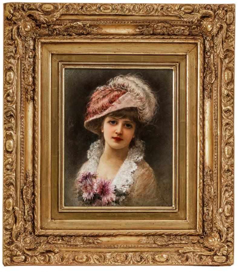 Elegantka w kapeluszu, 1884 r. - 2