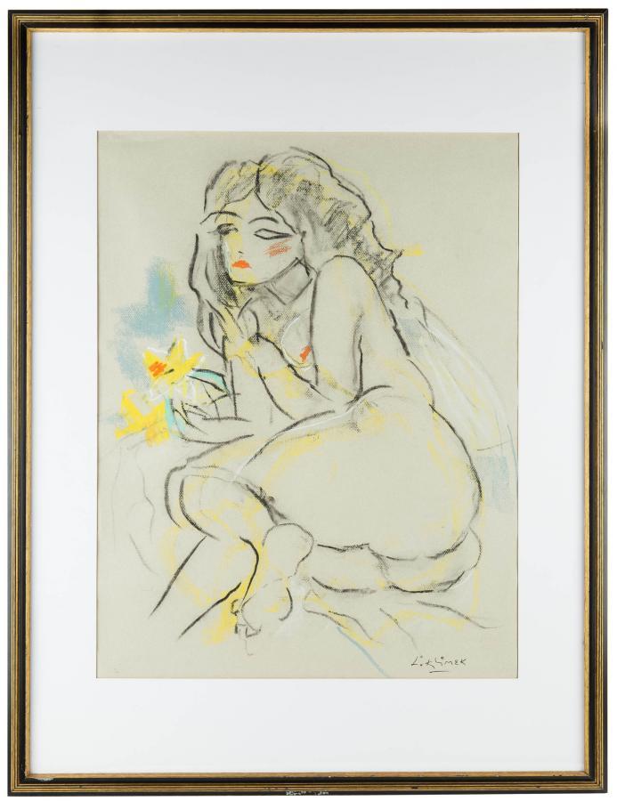 Akt z żółtym kwiatem, Adele - 2