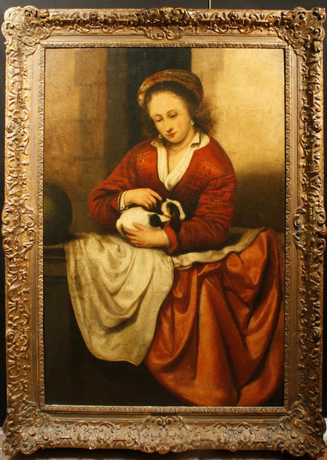 Młoda dziewczyna przy balustradzie - 1