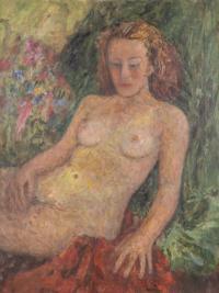 Akt kobiey - rudowłosa
