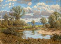 Pejzaż z okolic Leńcza, 1909 r.