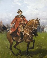Hetman Stefan Czarniecki na koniu
