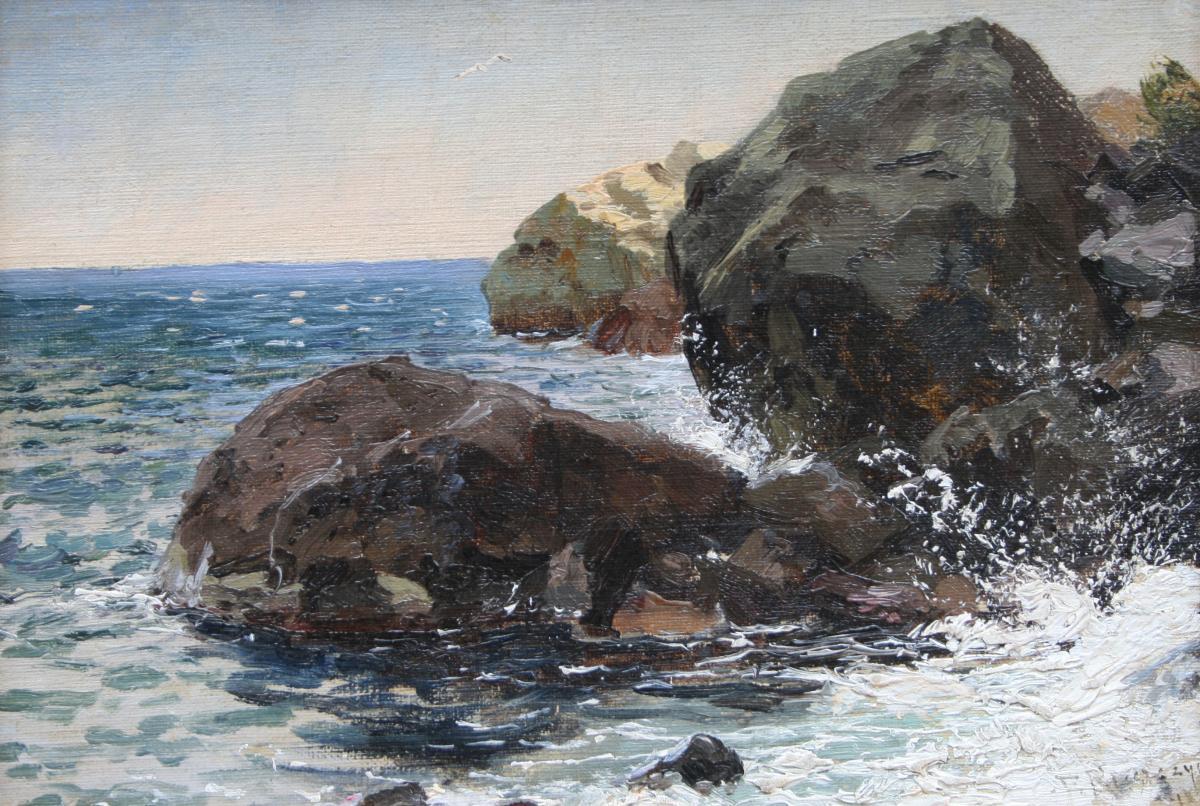 Skały nad brzegiem, 1896 r.