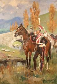 Szwoleżer Gwardii Polskiej pod Samosierrą, 1927 r.