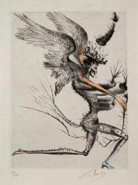 Skrzydlaty demon, z cyklu Vénus aux Fourrures, 1970