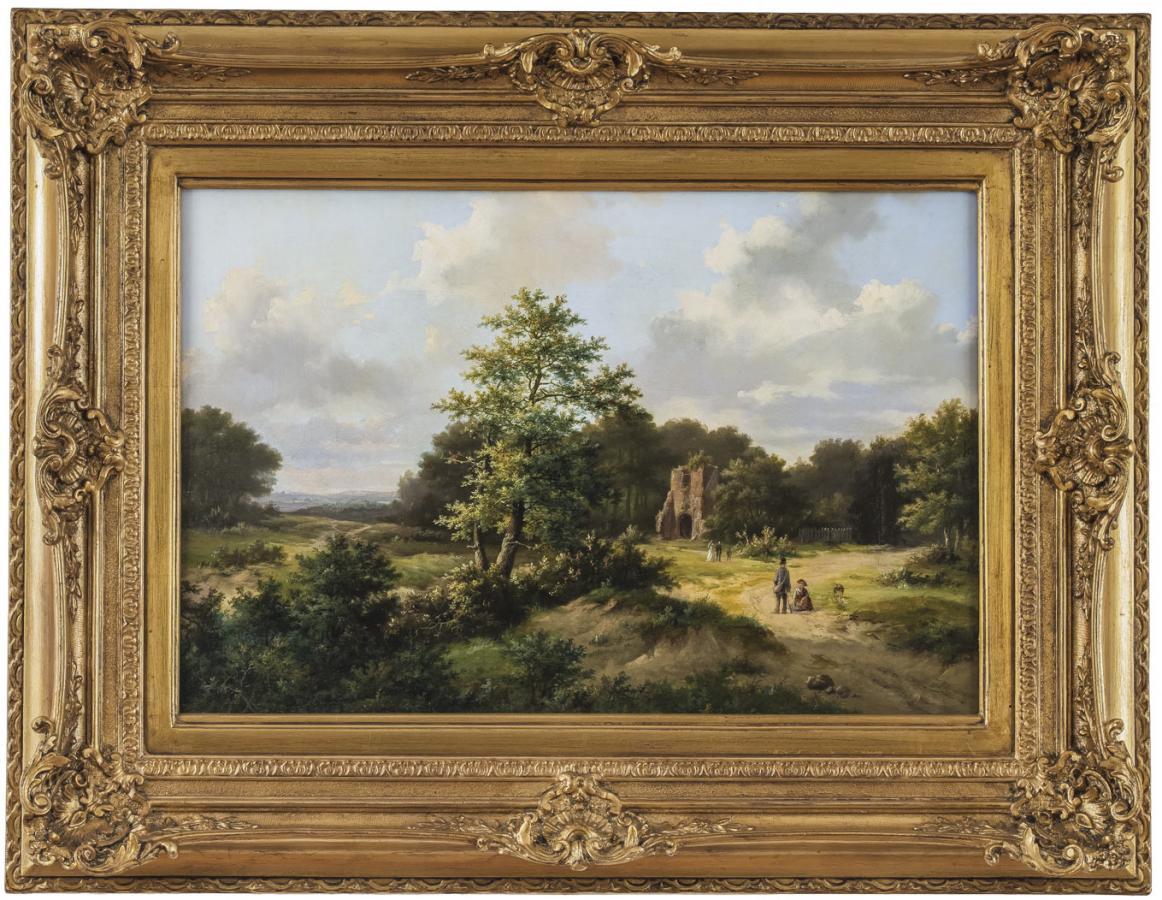Pejzaż z ruinami, 1868 r.