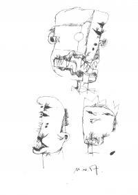Szkice głów, 11.10.1957