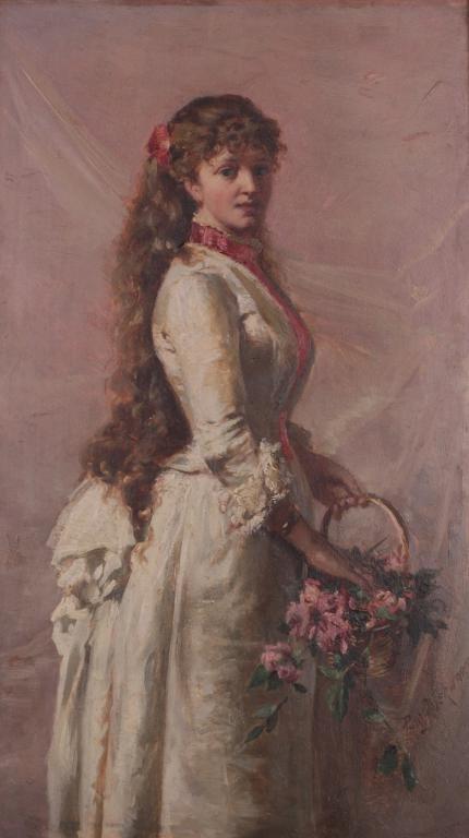 Paryżanka - dziewczyna z koszem kwiatów