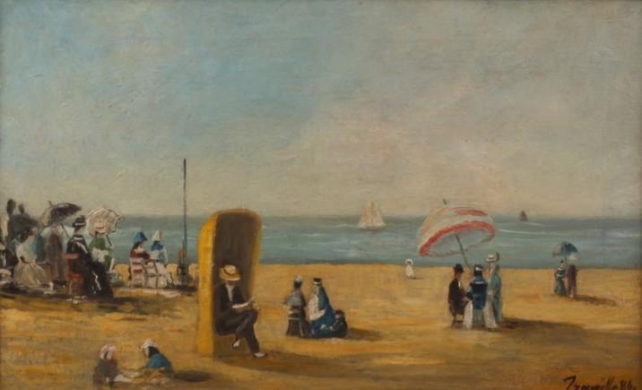 Plaża w Trouville, 1886 r.
