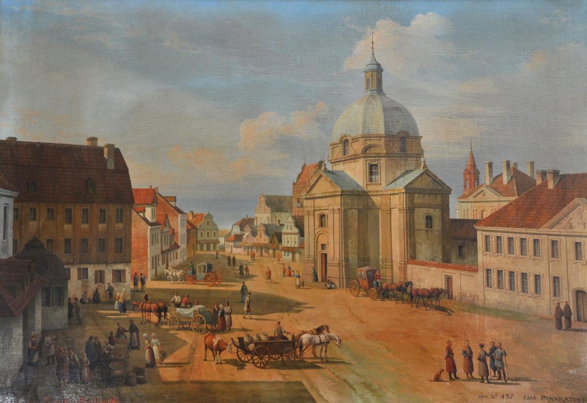 Rynek Nowego Miasta z kościołem Sakramentek w Warszawie