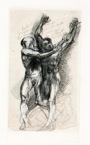 Dante i Wergiliusz przestraszeni przez demony, 1897