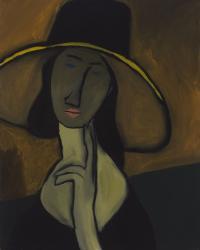 Portret kobiety w kapeluszu (Jeanne Hebuterne in Large Hat) / hołd dla Amedeo Modiglianiego, 2012