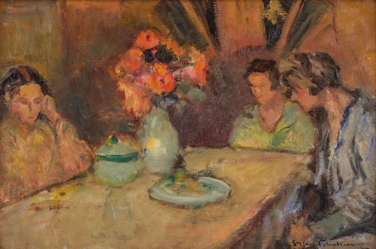 Córki artysty przy stole