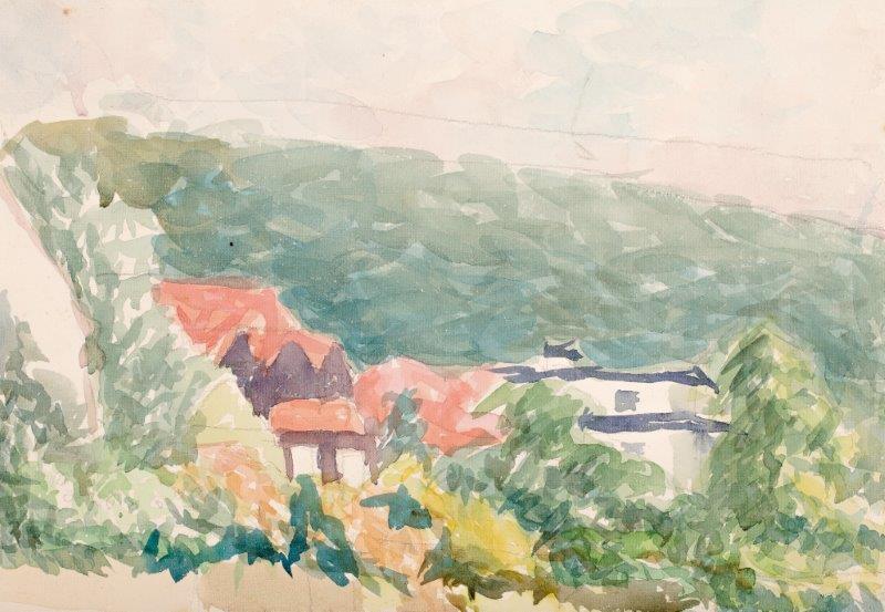 Widok na sopockie domy