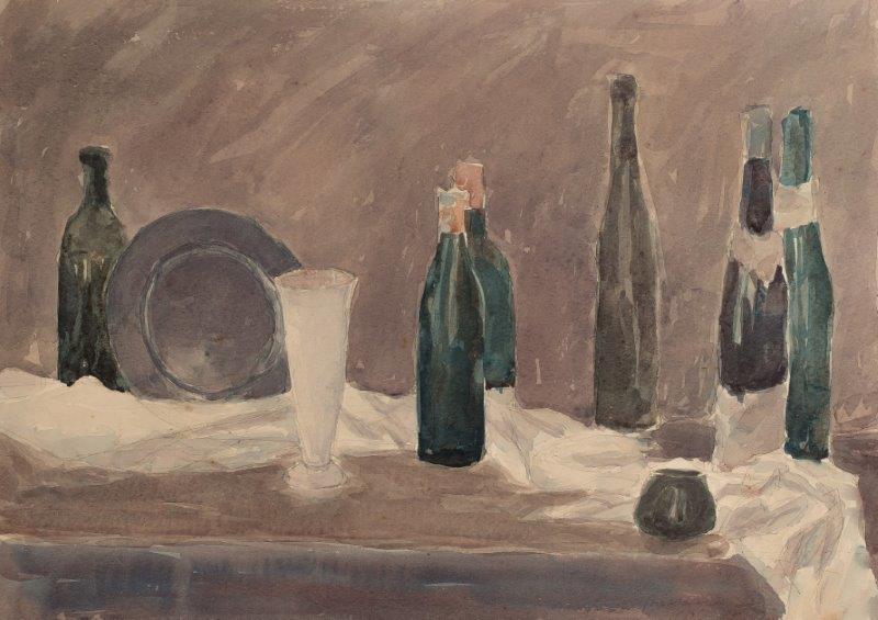 Martwa natura z butelkami, 1945 r.