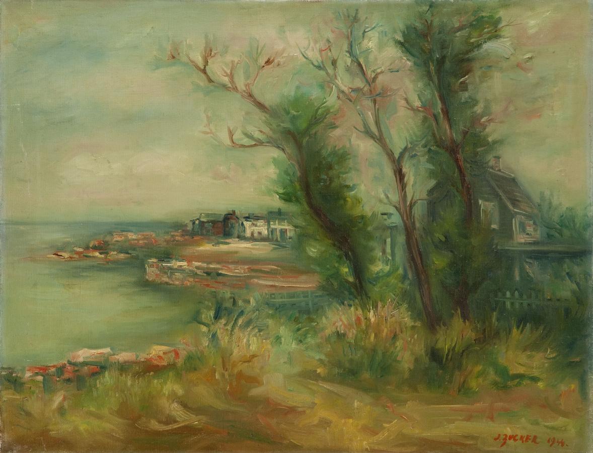 Widok z Rockport nad rzeką Hudson, 1944 r.