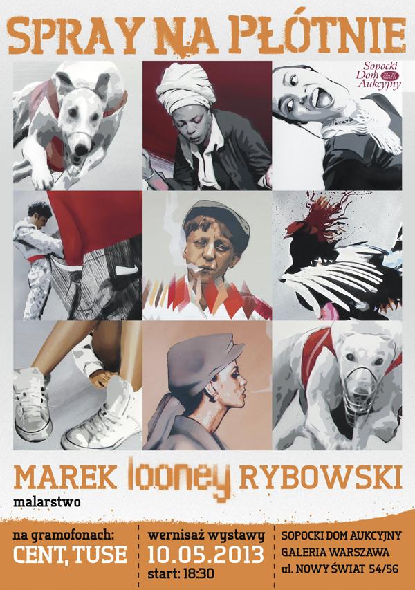 Spray na płótnie - Marek Looney Rybowski