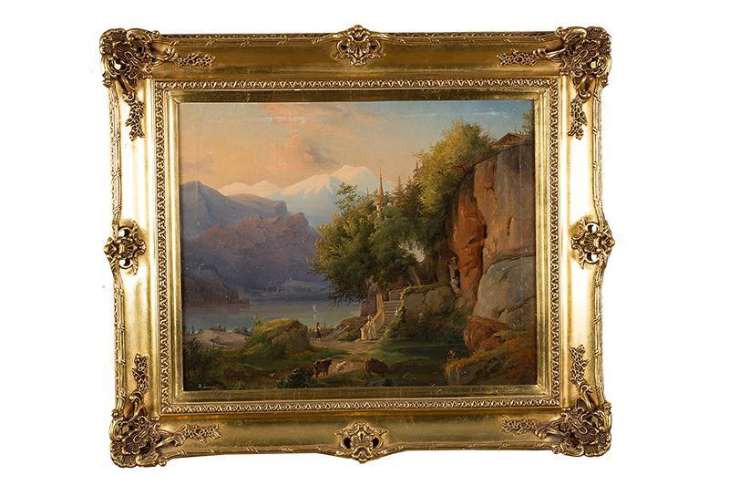 Pejzaż alpejski, 1834 ? - 2