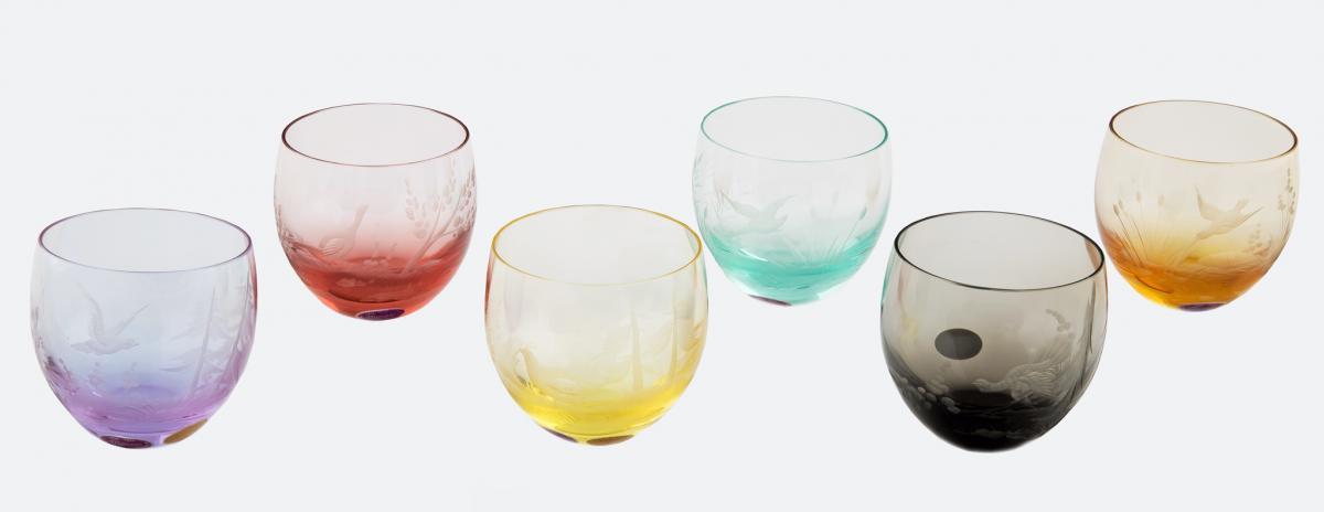 Komplet 6 szklanek do whisky, Moser, ok. 1970 r. - 2