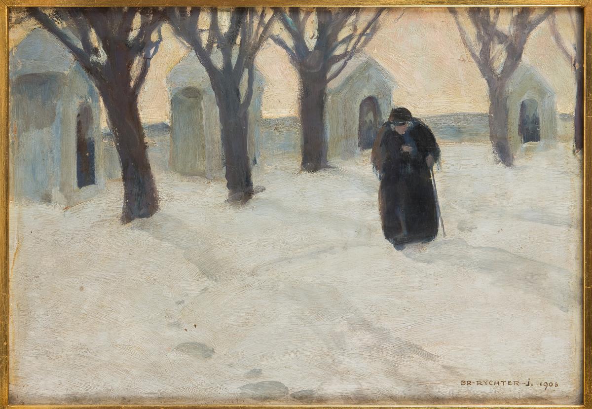 Kapliczki w śniegu, 1908 r. - 1