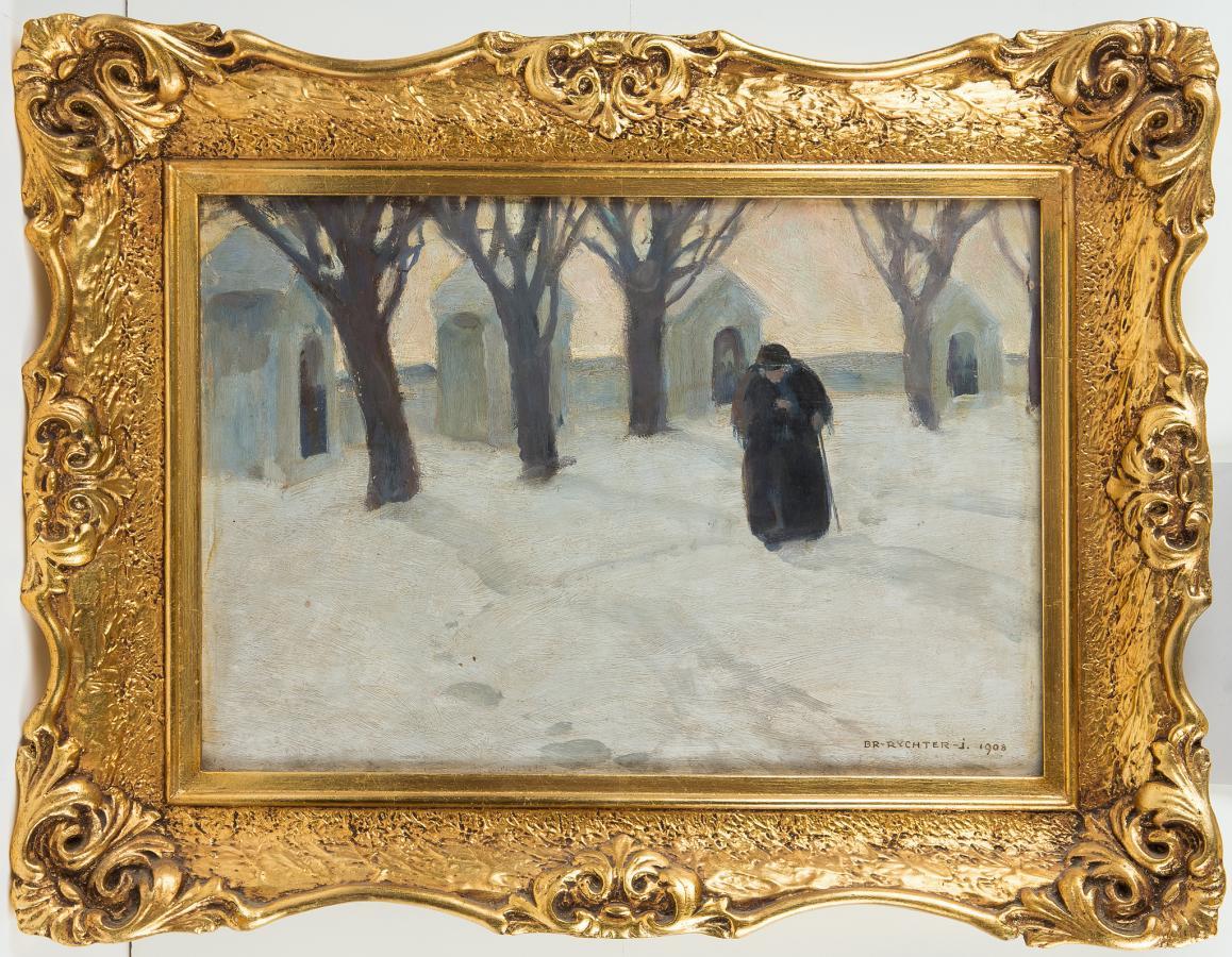 Kapliczki w śniegu, 1908 r. - 2