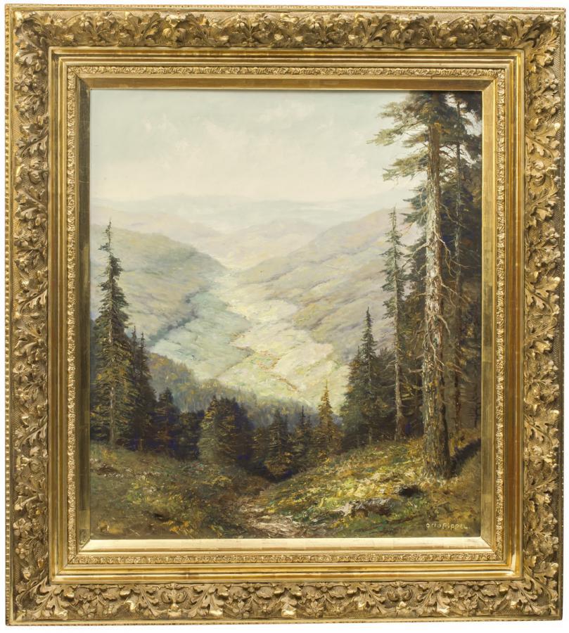 Pejzaż z Wiesental w Szwarzwaldzie