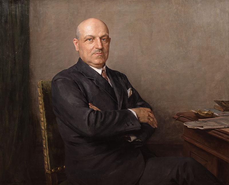 Portret mężczyzny przy biurku, 1930 r.
