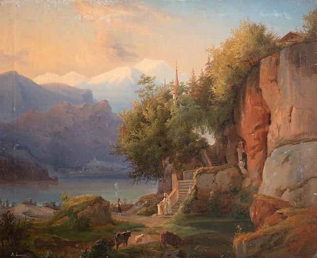 Pejzaż alpejski, 1834 ?