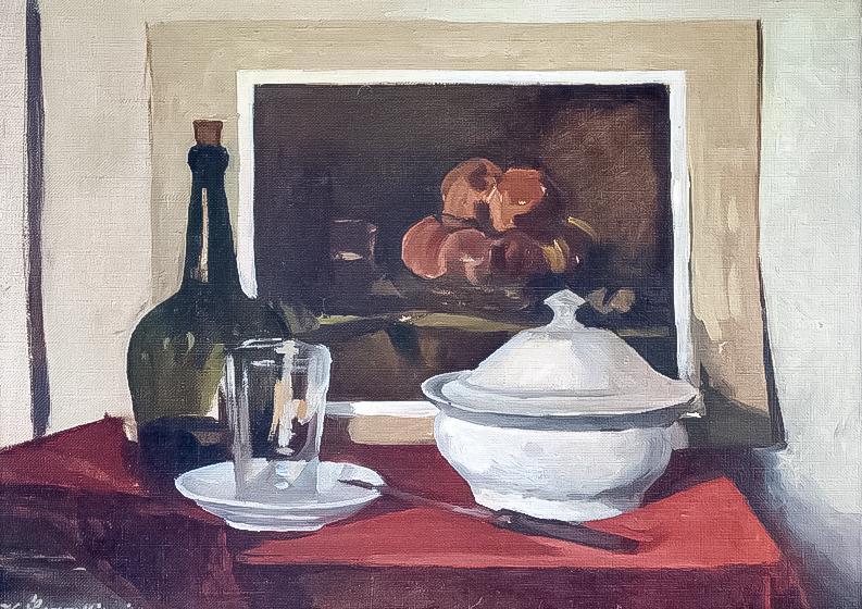 Martwa natura z reprodukcją Chardina II, 1952