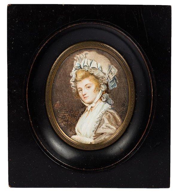 Miniatura - Dama w czepku, I poł. XIX w.