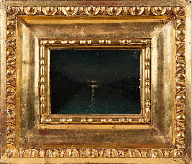 Nokturn- Nocny widok portu, 1893 r.