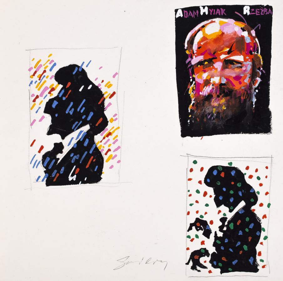 Myjak, szkic do plakatu wystawy