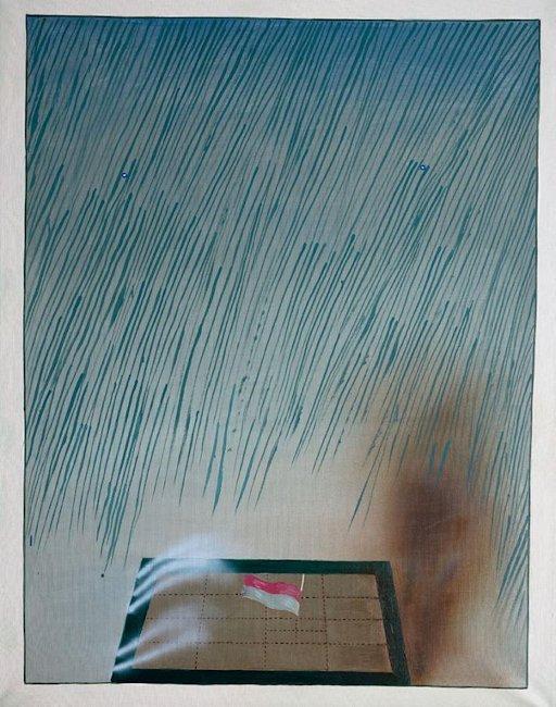 Chorągiewka i deszcz, 1983