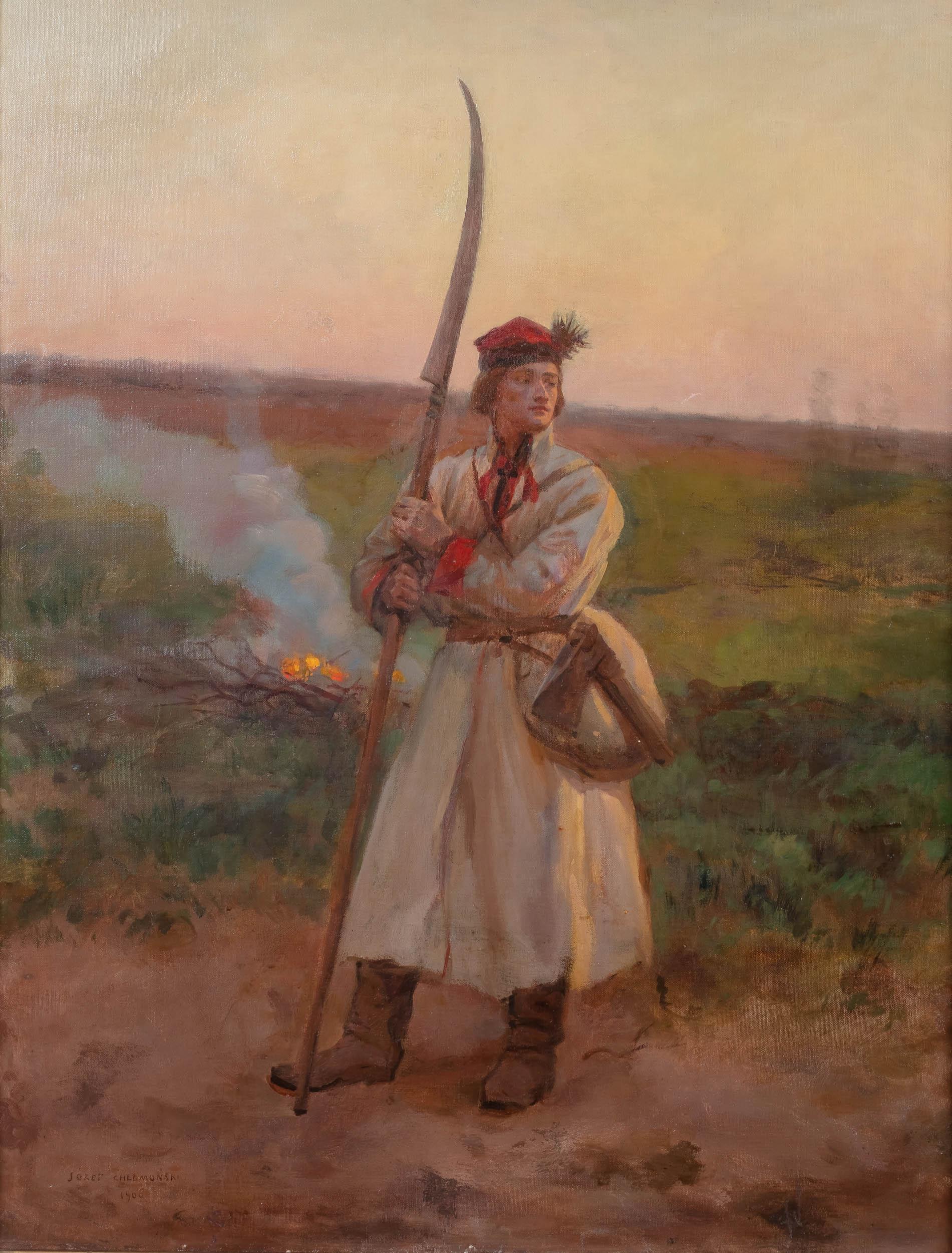 Józef Chełmoński | Kosynier, 1906 r.
