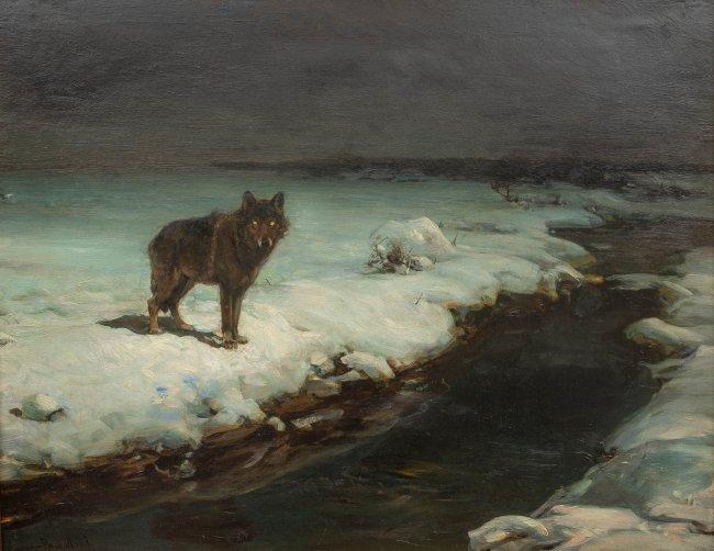Alfred Wierusz-Kowalski | Wilk, lata 80. XIX w.