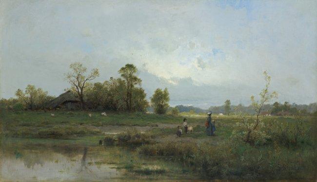 Zygmunt Sidorowicz | Na przechadzce. Spacer, 1880 r.