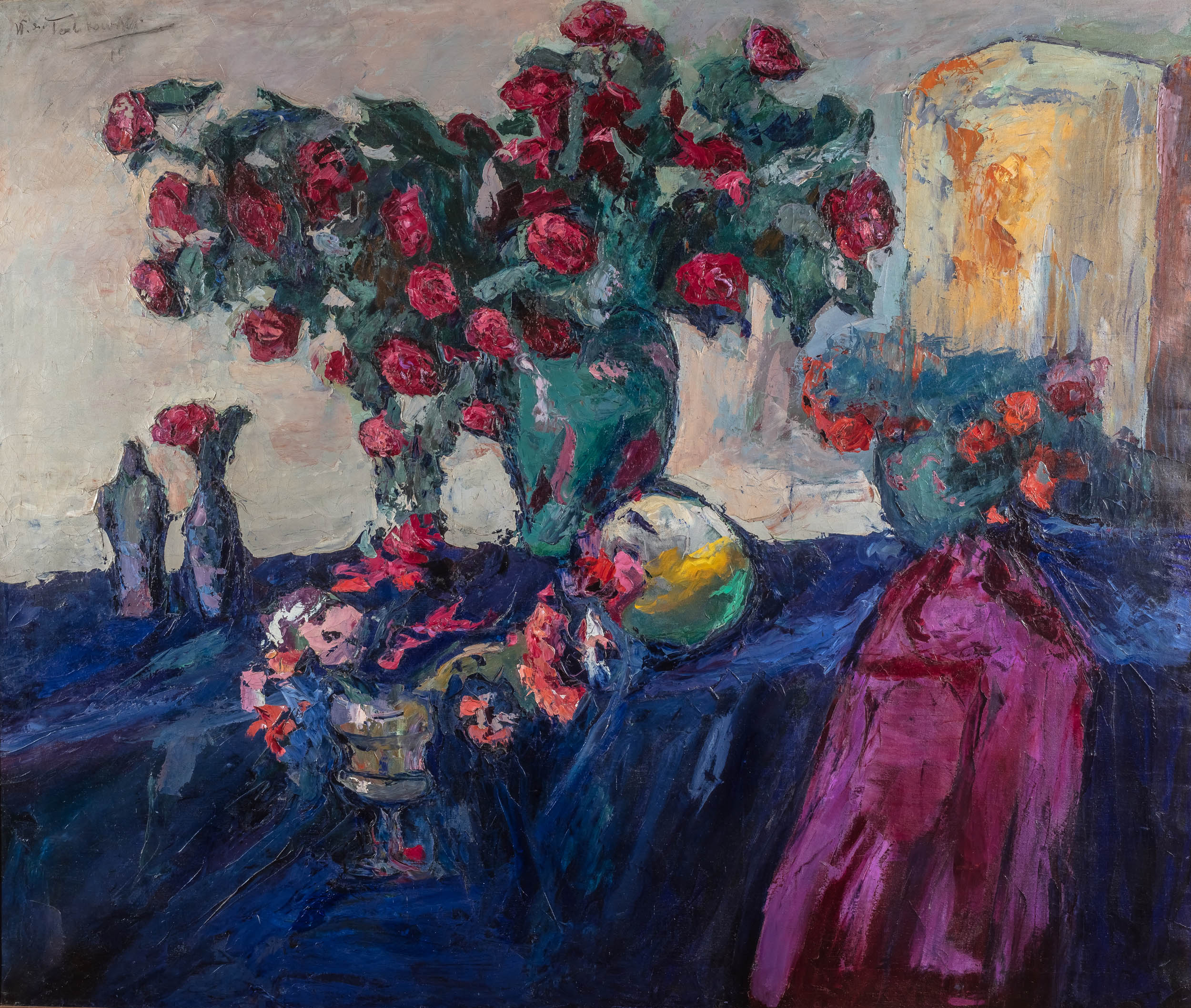 Włodzimierz Terlikowski   Martwa natura z różami