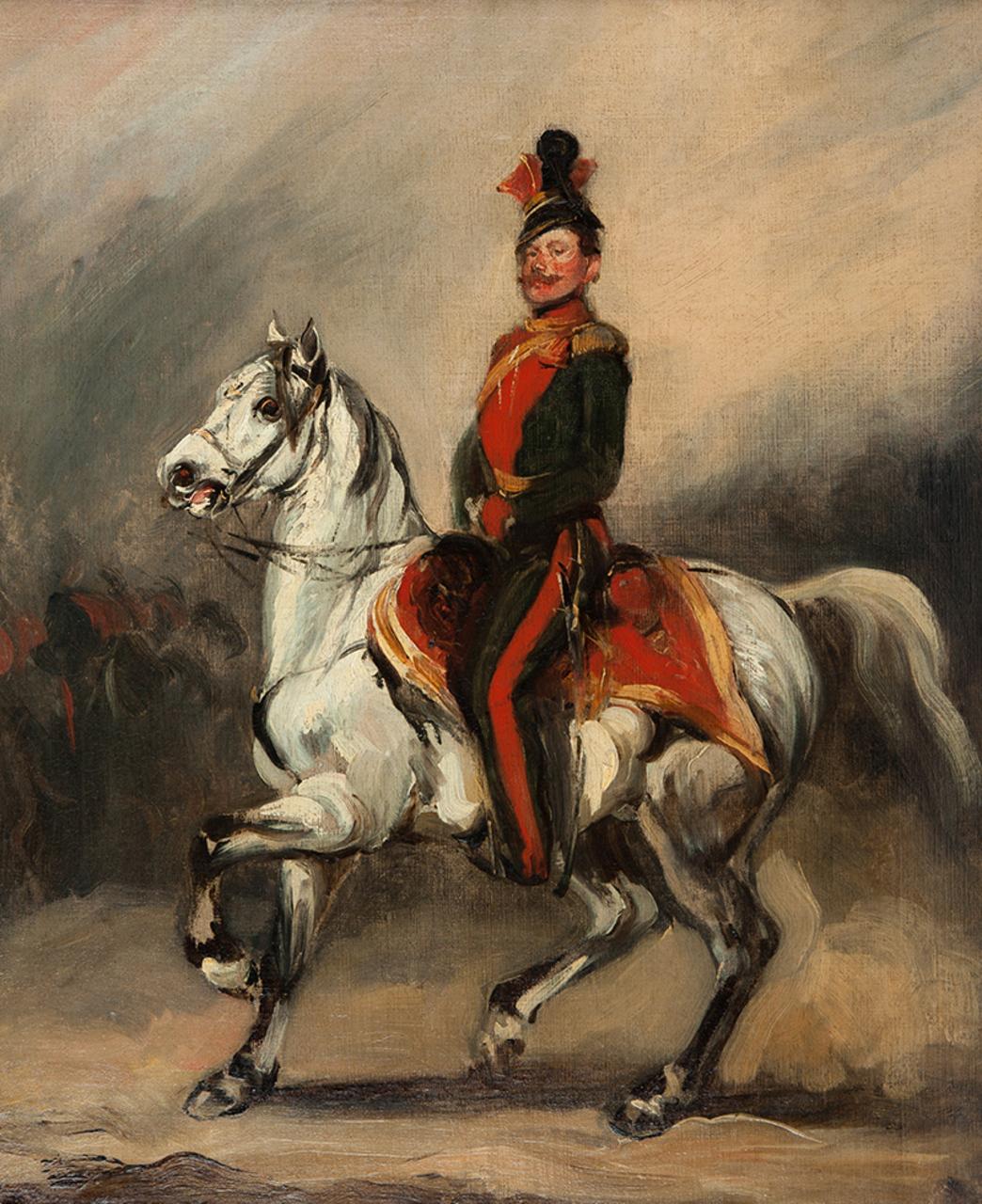 Piotr Michałowski | Huzar austriacki na koniu (Eustachy Dunin – Wąsowicz), ok. 1840 (?)